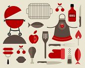 picture of briquette  - Vector set of various food barbecue icons - JPG