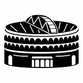 Large Indoor Arena Icon. Simple Illustration Of Large Indoor Arena Vector Icon For Web Design Isolat poster