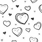 stock photo of ero  - Doodle style Valentine - JPG