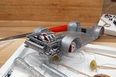 Modeling.  Build A Scale Model Of The Car. The Engine With Exhaust, Gearbox And Suspension Are Paint poster