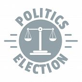 Politics Election Logo. Simple Illustration Of Politics Election Logo For Web poster