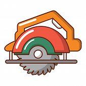 Circular Saw Icon. Cartoon Illustration Of Circular Saw Icon For Web poster