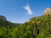 stock photo of spearfishing  - A late afternoon in summer in Spearfish Canyon in the Black Hills of South Dakota - JPG
