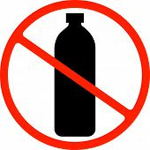 Say No To Plastic Poster. Disposable Cellophane And Polythene Package Prohibition Sign. Pollution Pr poster
