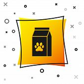 Black Bag Of Food For Pet Icon Isolated On White Background. Food For Animals. Pet Food Package. Dog poster