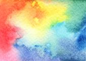 Abstract Bright Watercolor Background In Different Hues, Shades And Textures.  Watercolor Textured B poster