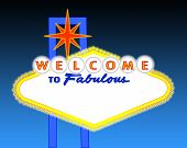pic of las vegas casino  - illustration of the neon illuminated Las Vegas sign left blank for your text - JPG