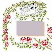 image of storytime  - Beatifull postcard with storytime background and roses - JPG