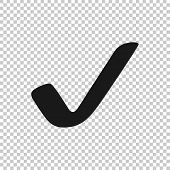 Check Mark Icon. Check Mark Vector Icon. Check Icon In Trendy Flat Style poster