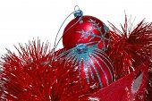 Gift Bag Full Of Red Christmas Toys poster