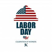 American Happy Labor Day, Poster Or Banner Happy Labor Day poster