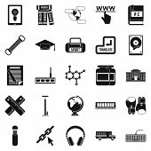 Theory Icons Set. Simple Set Of 25 Theory Icons For Web Isolated On White Background poster
