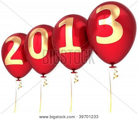 New Year 2013 helium balloons holiday party decoration