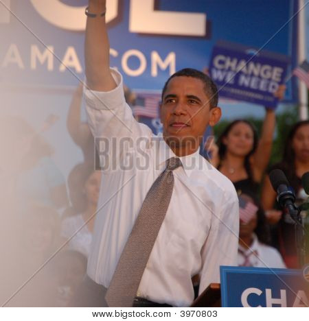 Barack Obama At Bayfront Park,Miami,Florida