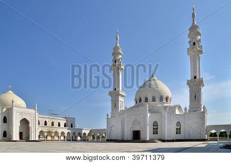 White Mosque Under Construction In Bolgar, Russia