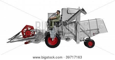 Nostalgic Combine Harvester Toy