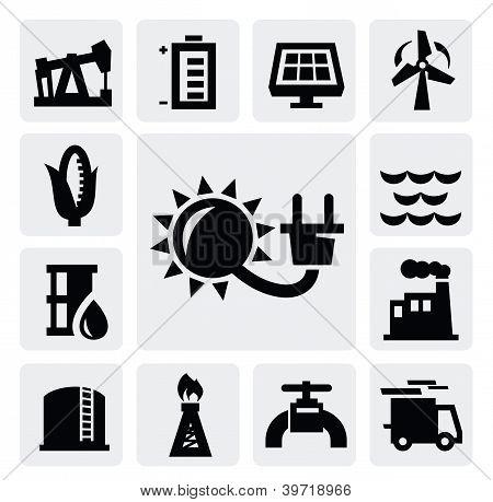 icono de la industria de energía