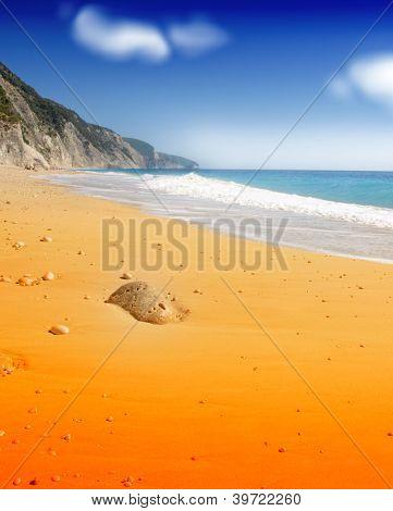 Idyllischen tropischen Sandstrand