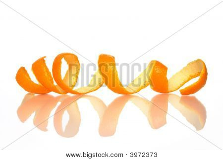 Spiral Orange Peel With Reflection