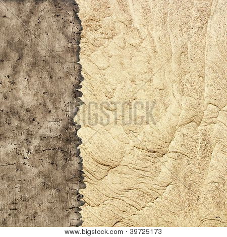 Texture Of Old Parchment And Sand