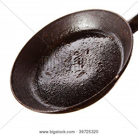 Dirty Oily  Pan After Frying