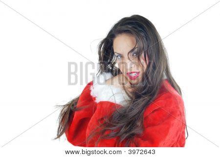 Santa With Long Hairs