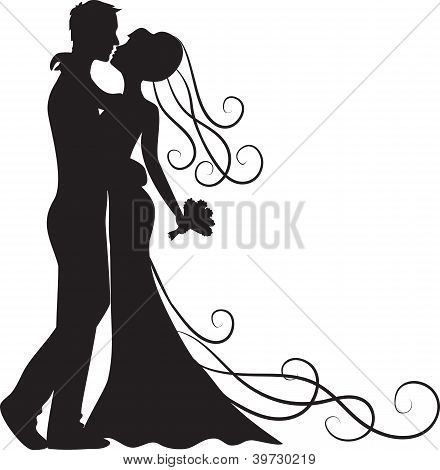 Kissing Groom And Bride Stock Vector & Stock Photos | Bigstock