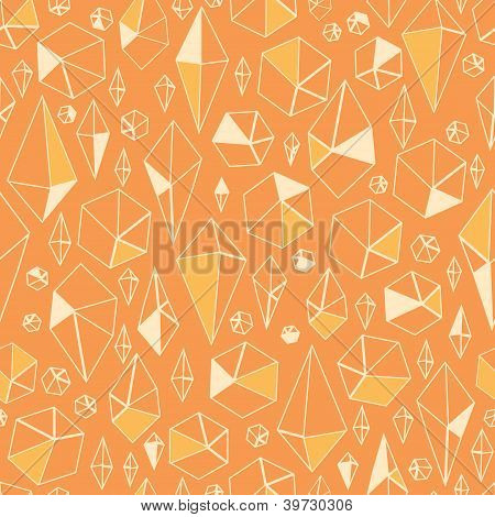 Abstract geometric chrystals seamless pattern background