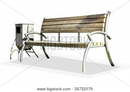 Bench and street