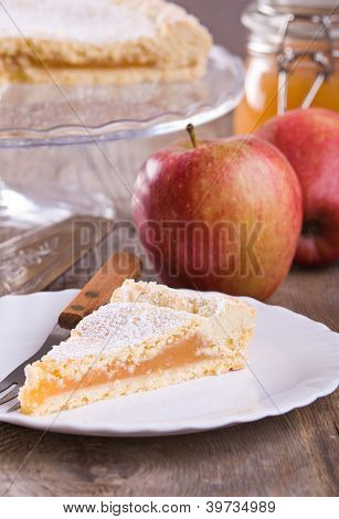 Apple jam tart.