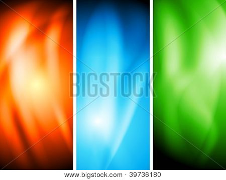 Colourful wavy banners. Vector illustration eps 10. Gradient mesh included
