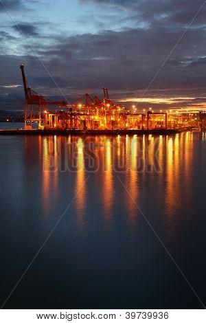 Burrard Inlet Cargo Terminal, Dawn