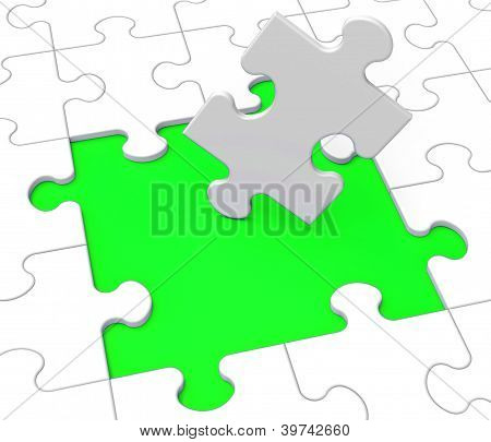 Missing Puzzle Pieces Shows Problems