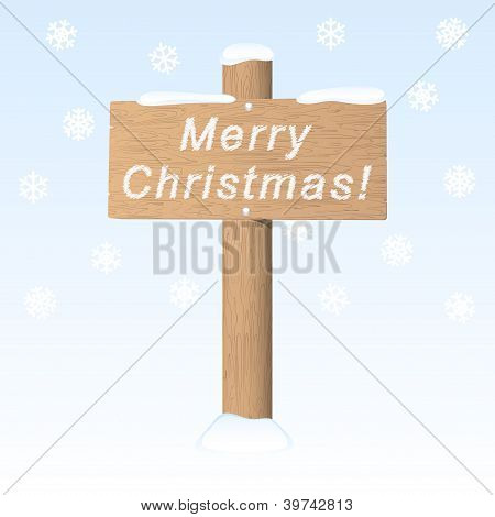Merry Christmas. Vector Greeting Card