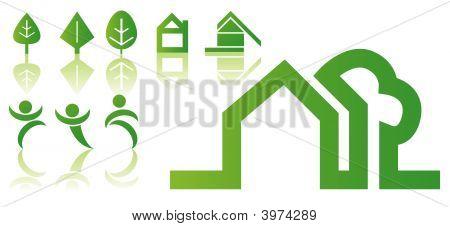 Green Vector Symbols