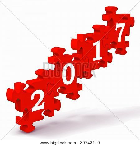 2017 Puzzle Shows New Year's Greetings