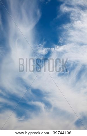 windy sky background. cloudscape