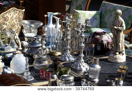 Old Objects On A Flea Market