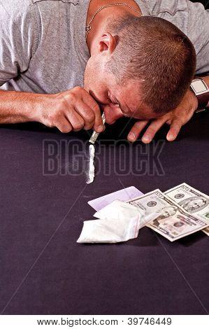 Man Using Drugs