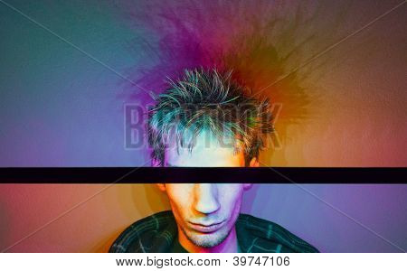 Colorful Photograph Of A Male Model