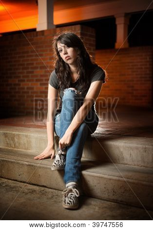 Listless Girl Sitting