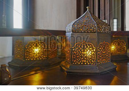 Oriental Table Lamp Corner Table