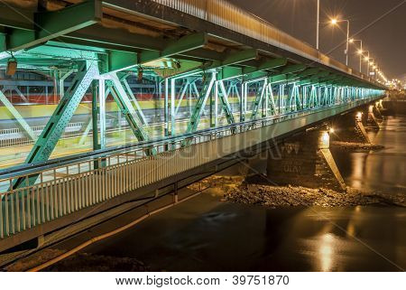 Gdanski Bridge (most Gdanski), Warsaw, Poland.