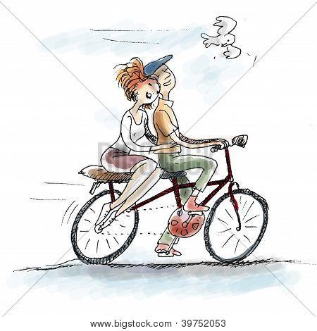 paar Radfahren