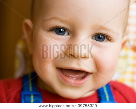 Happy Young Boy Smiling
