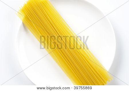 spaghettis pasta on dish