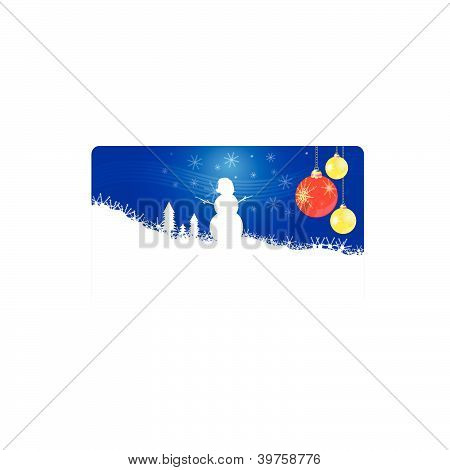 Snowman New 2013 Year Vector Illustration