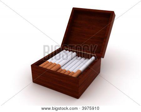 Cigarettes In Open Box