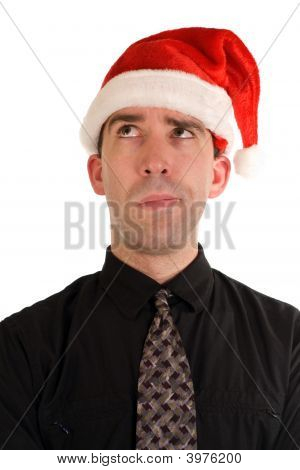 Puzzled Christmas Employee