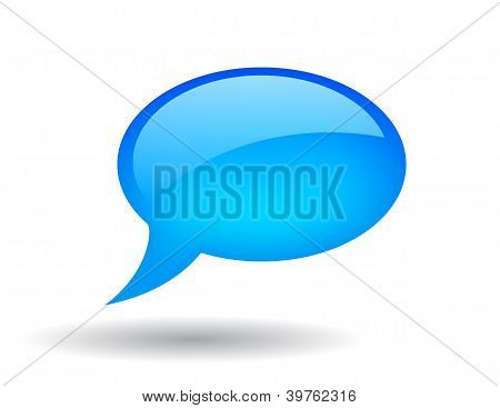 Vector glossy speech bubble illustration